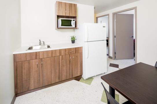 Double dorm kitchenette